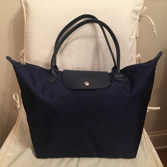 ddf2aab26a Longchamp Handbags - Longchamp Large Le Pliage Neo Nylon Tote in Navy